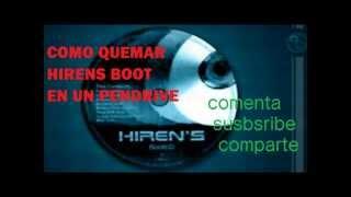 COMO QUEMAR HIRENS BOOT CD EN UNA MEMORIA