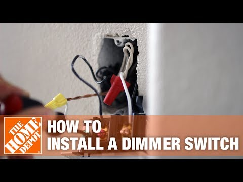 How to Install a Dimmer Switch - The Home Depot - YouTube