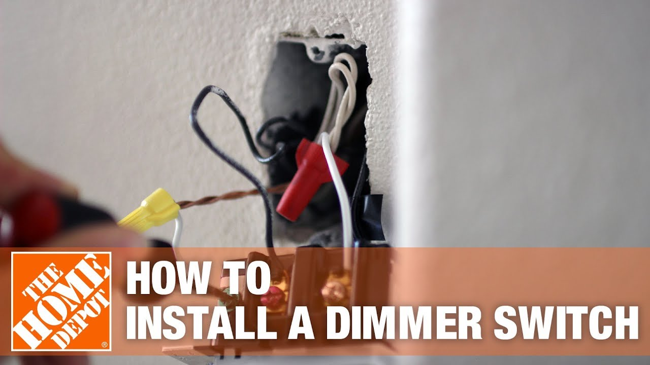 How To Install A Dimmer Switch The Home Depot Youtube