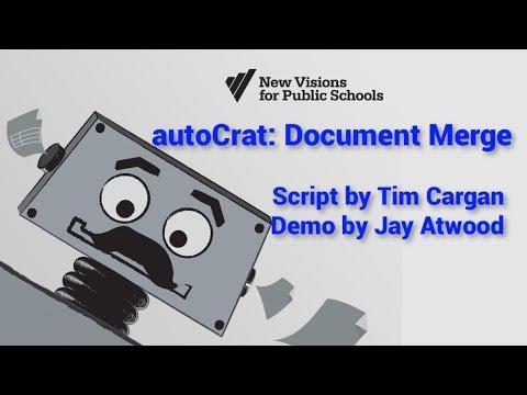 The New autoCrat: Document Merge in Google Drive