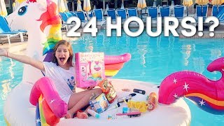 I TRIED STAYING 24 HOURS ON A FLOATIE!? Hope Marie