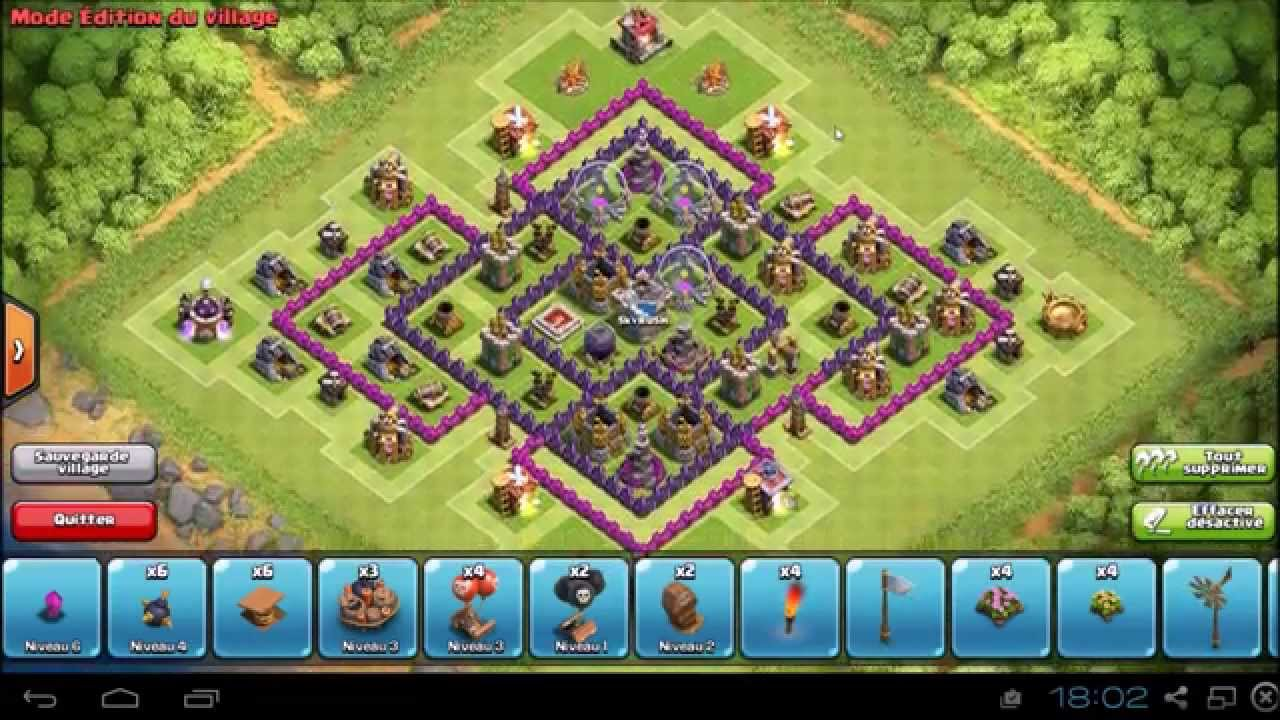 clash of clans hdv 8 farming 4 mortiers doovi. Black Bedroom Furniture Sets. Home Design Ideas