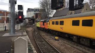 Colas rail. Class 37175+37254 thrash away form Lincoln central with 1Q86 march to derby RTC