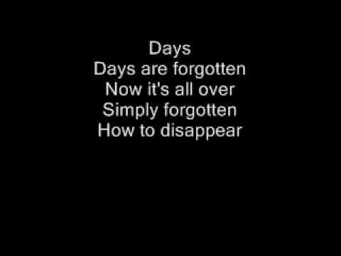 Kasabian - Days are forgotten Lyrics