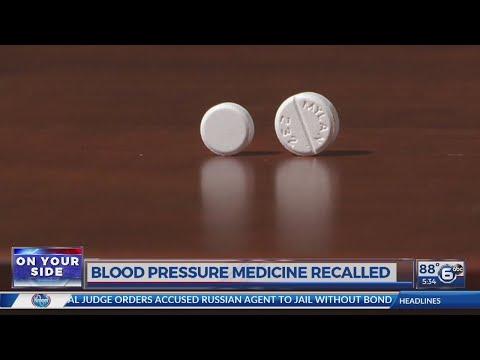 Blood pressure medicine recalled