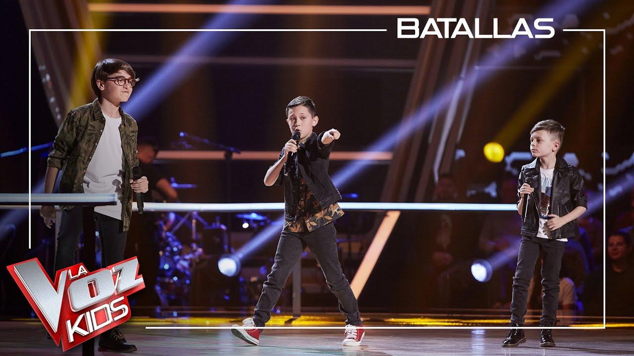Download Jesús, Lucas y Alejandro cantan 'Locked out of heaven'   Batallas   La Voz Kids Antena 3 2021