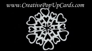 Heart Shaped Paper Snowflake