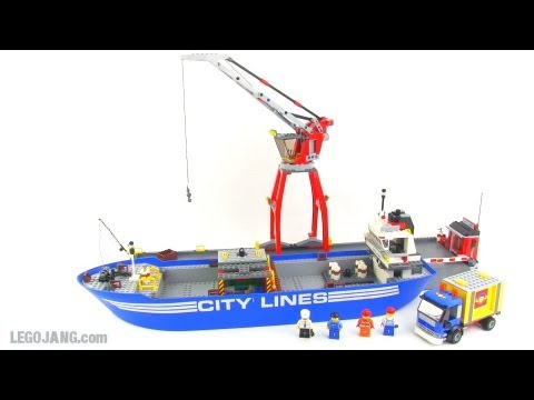 LEGO City 7994 Harbor & cargo ship review!