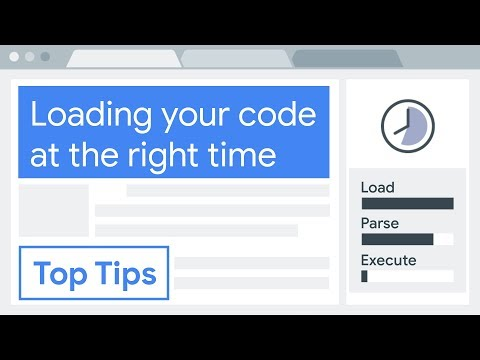 Optimise your code: load code at the right time