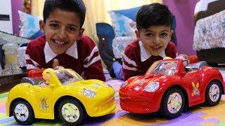 مفاجئة سيارات اطفال لعبودي ويوسف