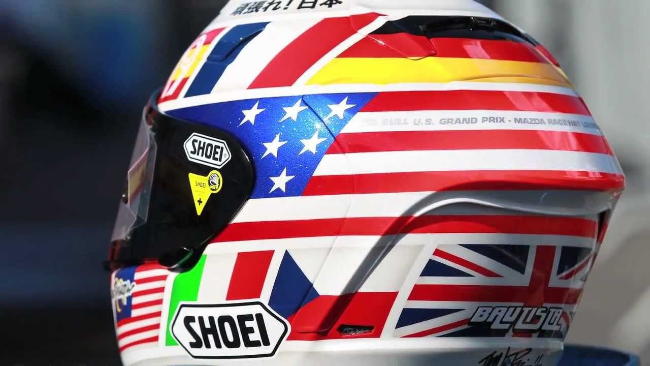 Troy Lee Designs Rizla Suzuki Bautista Shoei Helmet Youtube
