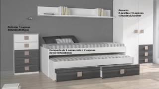 Gambar cover Dormitorio Juvenil Barato modelo Nua