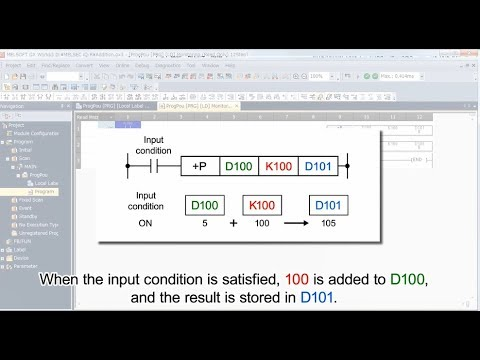 9  Ladder Logic Programming (Arithmetic Operation) - MELSEC Tutorial
