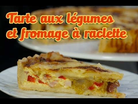 recette-facile-de-la-tarte-aux-légumes-et-fromage-raclette