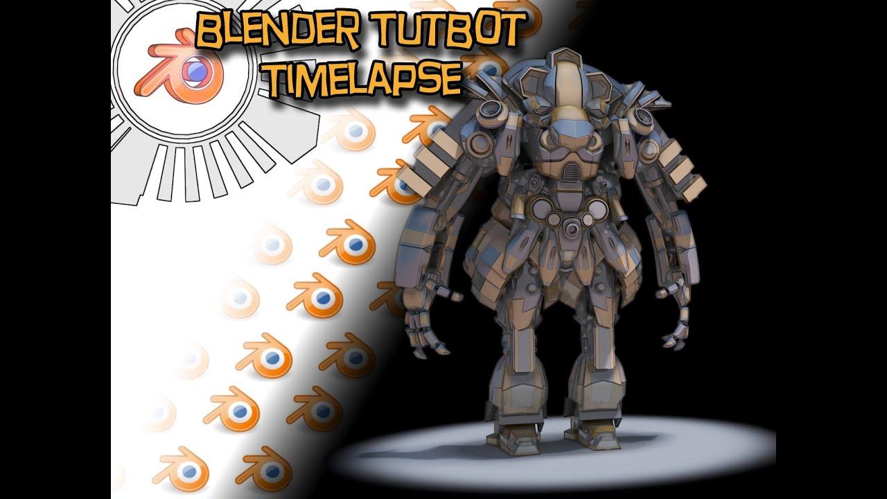 Blender 3d Mech Kitbash Timelapse YouTube