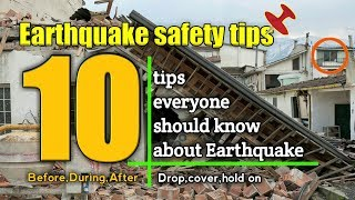 Earthquake safety tips,according to expert