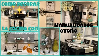 Como decorar la cocina con manualidades para el otoño
