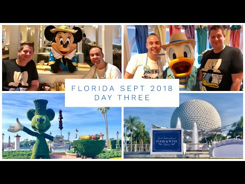 Walt Disney World & Florida Vlog - Sept 2018 - Day 3 - Cape May Cafe Character Breakfast and Epcot