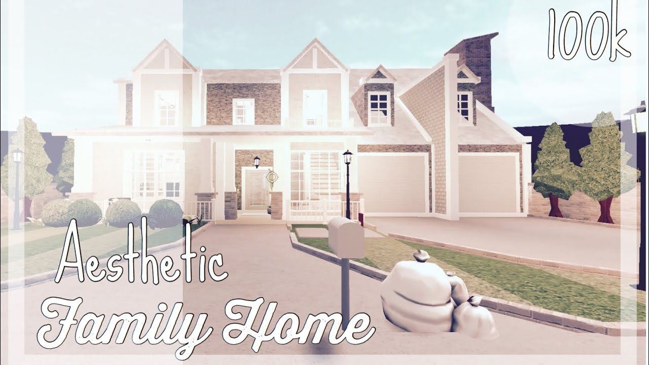 Roblox Bloxburg Aesthetic Family Home 100k Youtube