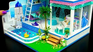 DIY Miniature Frozen Doll House With Pool