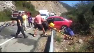 Rescate heridos en accidente Epuyén