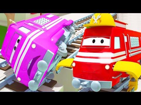 Vláček Troy a záchrana Táni ve Městě Aut/ Animák o autech a náklaďácích pro děti