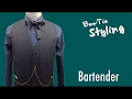 BowTie Style Bartender Bowtie,with vest/BOWTIE SPECIMENS