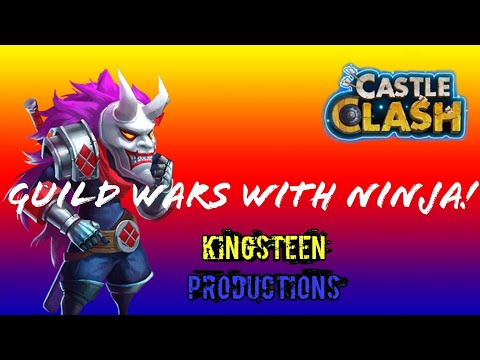 Guild Wars With Ninja And Ruduff 4000+Points Castle Clash!!!