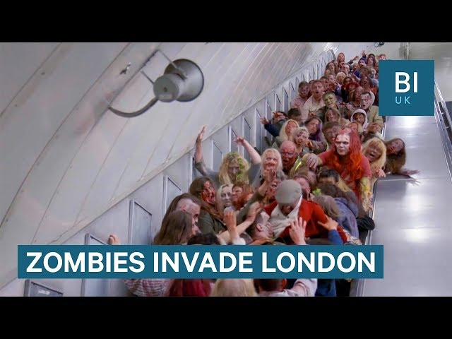 100 zombies invaded London to promote The Walking Dead