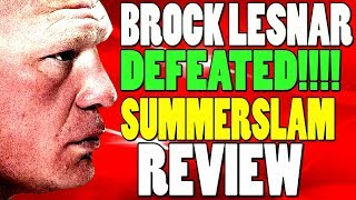 Brock Lesnar LOST Universal Title To Seth Rollins (WWE SummerSlam 2019 Review)