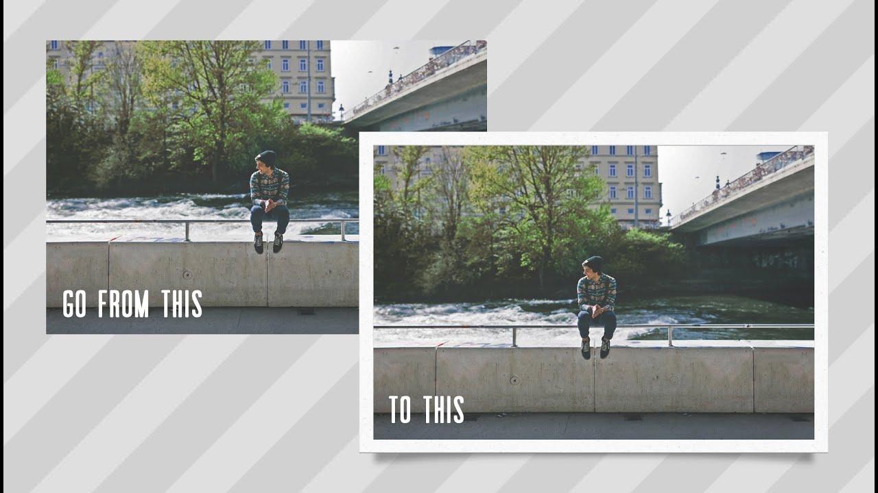 How to Add a Polaroid Frame to Your Photos in Photoshop ... |Old Polaroid Photoshop