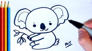 How to Draw Koala - Step by Step Tutorial For Kids