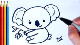 How to Draw Koala - Step by Step Tutorial For Kids