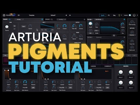 NEW Arturia Pigments wavetable plugin overview : synthesizers