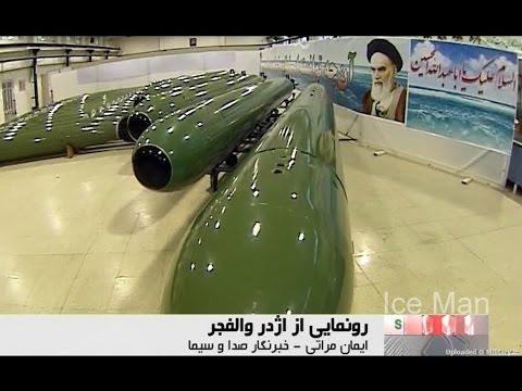 HD-IRAN REGULAR NAVY SINKING USA WARSHIP WITH TORPEDO LAUNCHER MINI SUBMARINE