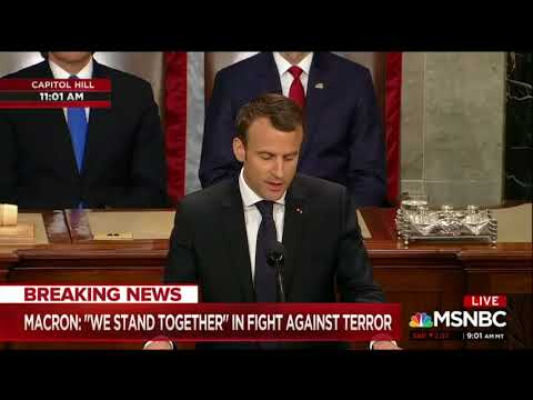 Macron Delivers The Speech To Congress That Trump Will Never Give