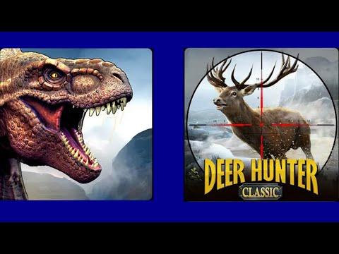Deer Hunter: Classic Vs Dino Hunter: Deadly Shores - All Big Carnivores & Herbivores Death Sequences