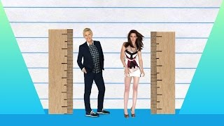 How Much Taller? - Ellen DeGeneres vs Kristen Stewart!