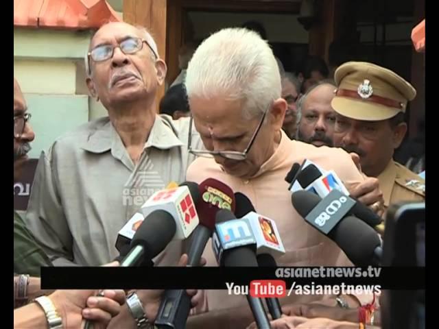 Vishnunarayanan Namboothiri pays homage to ONV Kurup