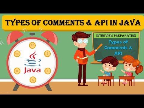 Java Comments || Java API || Java Documentation