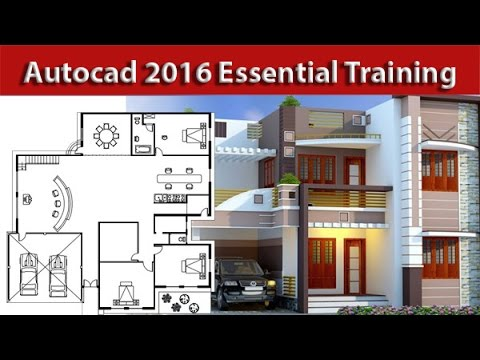 Autocad architectural house 2d plan tutorial for beginners for 2d house plan