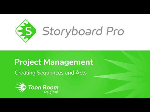 Creating Sequences and Acts in Storyboard Pro