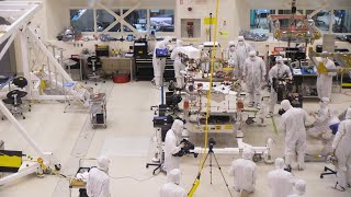 Pit Crew for Mars: NASA's Mars 2020 Rover Gets Some Wheels (time lapse)