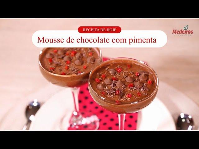 Receitou - Mousse de chocolate com pimenta