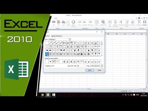 วิธีแทรกเครื่องหมายถูกใน Excel 2010