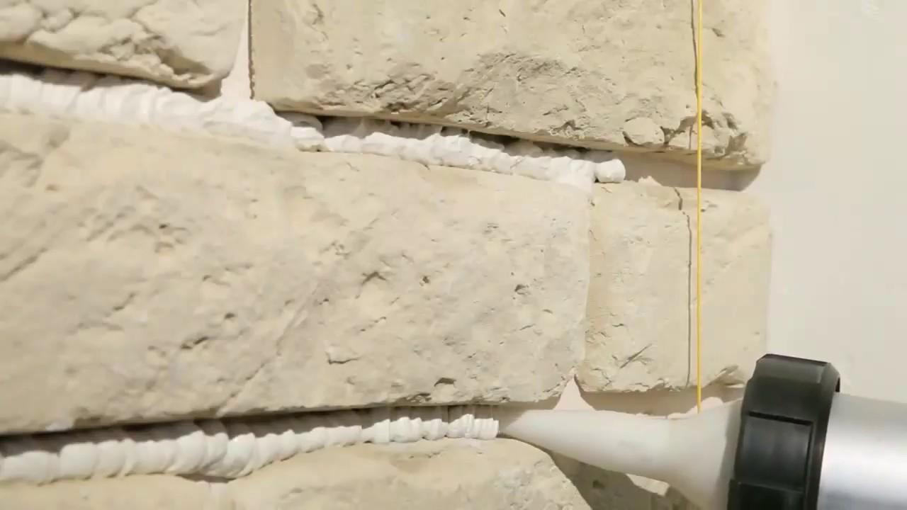 особенностью заделка швов в белом декоративном камне фото спим