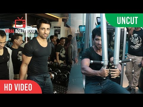 UNCUT - Fitness Party At Kris Gethins Gym Chembur | Sonu Sood