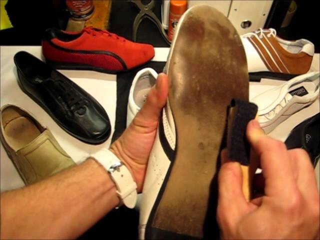 How to brush dance shoe suede soles.wmv