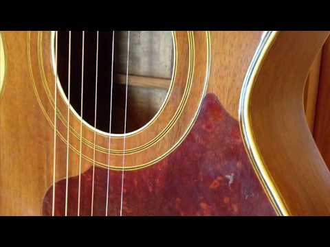 """Lonesome Town Demo Played On An Oscar Schmidt """"Sovereign"""" Guitar"""