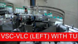 AUTOMATIC STICKER LABELLING MACHINE VSC VLC LEFT WITH TURN TABLE